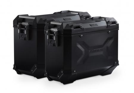 Sistem cutii laterale Trax Adv aluminiu Negru . 45/37 l. Honda XRV750 Africa Twin (93-03).