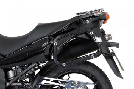 Sistem cutii laterale Trax Adv aluminiu Negru . 45/37 l. Suzuki DL 650 V-Strom (04-10). [1]