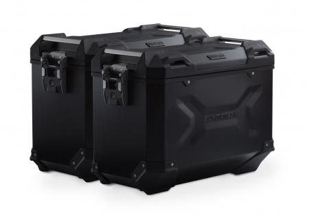 Sistem cutii laterale Trax Adv aluminiu Negru. 45/45 l. BMW F 900 R / XR (19-).