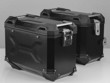 Sistem cutii laterale Trax Adv aluminiu Negru . 45/45 l. Yamaha XT 660 Z Tenere (07-). [0]