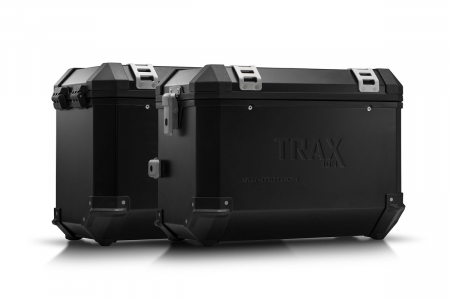 Sistem cutii laterale Trax Ion aluminiu Silver. CB500X (13-), 500F (13-16), R500R (13-15).
