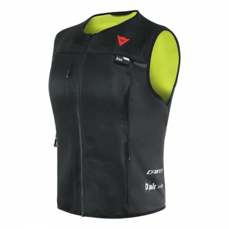 Vesta Dainese cu airbag D-Air Smart Jacket Lady Negru/Galben-Fluo marime XXL