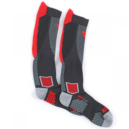DAINESE D-CORE HIGH SOCK BLACK/RED marime S