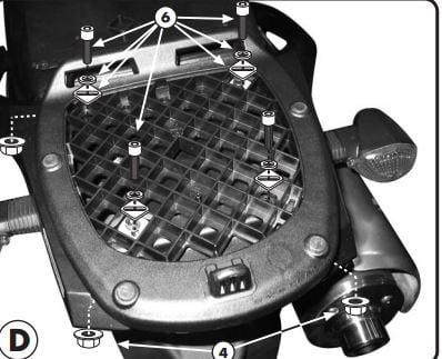 Suport Top Case MONOLOCK Suzuki DL 1000VS '02-0