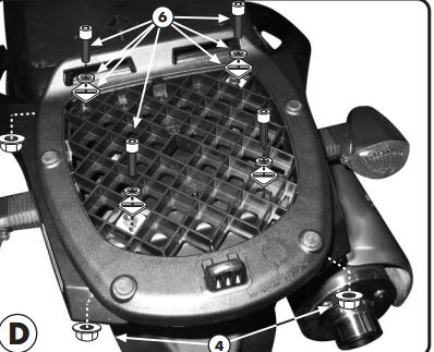 Suport Top Case MONOLOCK Suzuki DL 1000VS '02- [1]
