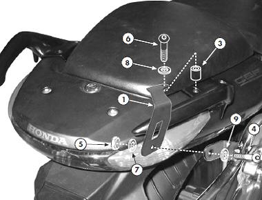 Suport Top Case PLX174 se poate monta si fara monorack [1]