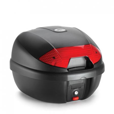 Top Case Kappa Monolock 30 litri negru Catadioptrii rosi [0]