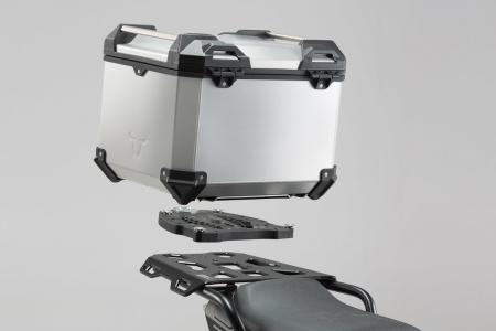 TRAX ADV Topcase System. Argintiu Triumph Tiger 1200 Explorer (11-)0