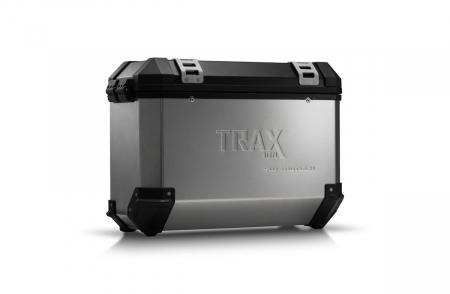 Trax Ion M Side case. Aluminium. 37 l. stanga. argintiu0