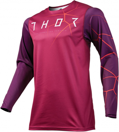 Tricou Cross THOR PRIME PRO INFECTION S9 OFFROAD MAROON/RED ORANGE X-LARGE