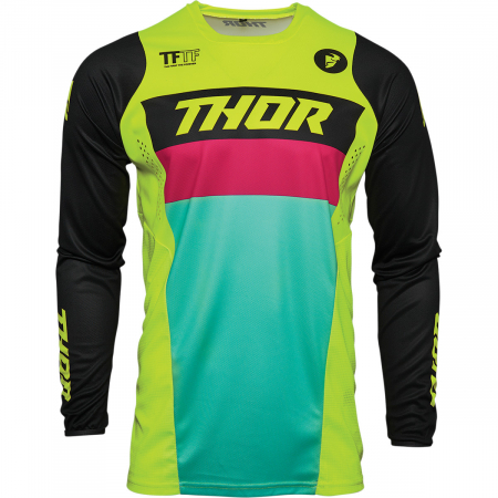 Tricou Off-Road Copii Thor Jrsy Pls Rcr Acid/Negru XS