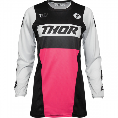 Tricou Off-Road Dama Thor Jrsy Pls Racr Negru/Roz M