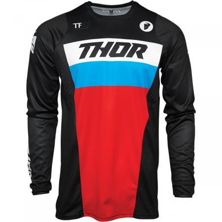 Tricou Off-Road  Thor Jrsy Pls Racr Negru/Rosu/Albastru L