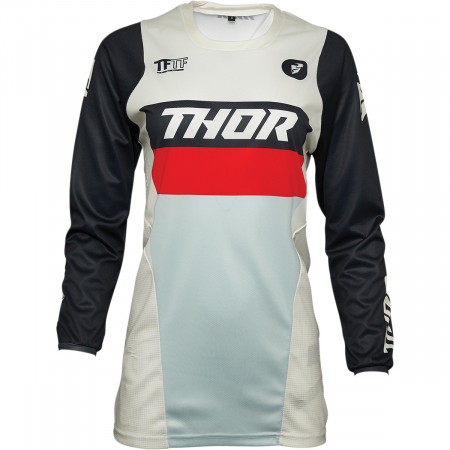 Tricou Off-Road Dama Thor Jrsy Pls Racr Alb XS