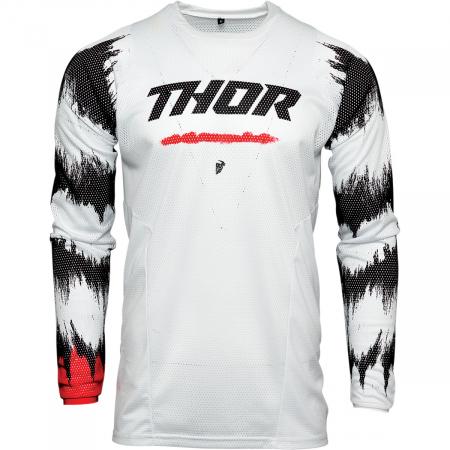 Tricou Off-Road  Thor Jrsy Pls Air Rad Alb/Rosu XL