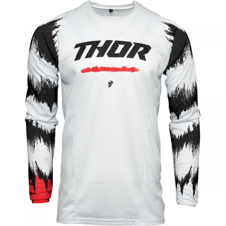 Tricou Off-Road  Thor Jrsy Pls Air Rad Alb/Rosu S
