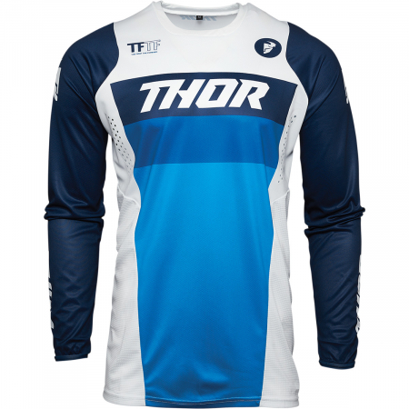 Tricou Off-Road  Thor Jrsy Pulse Racer Alb/Navy M
