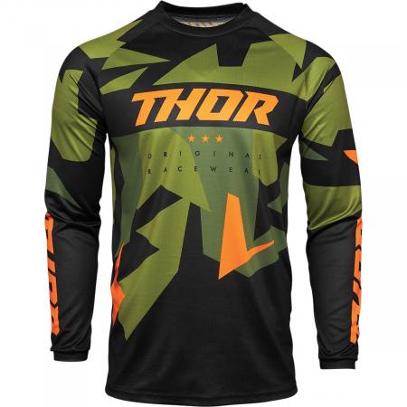 Tricou Off-Road  Thor Jrsy Sctr Warshp Verde/Portocaliu 2XL