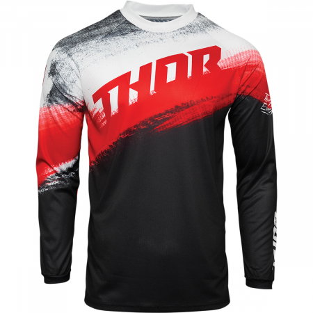 Tricou Off-Road  Thor Jrsy Sector Vapr Rosu/Negru L