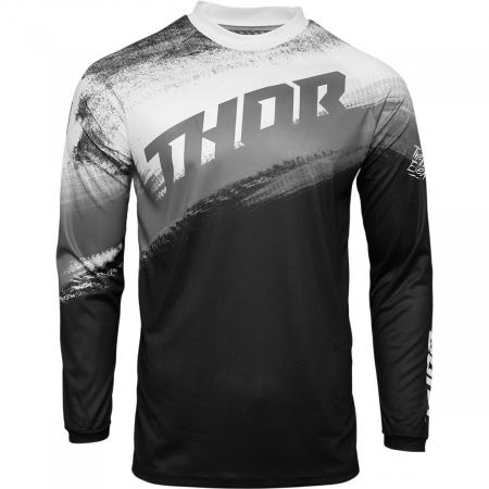 Tricou Off-Road  Thor Jrsy Sector Vapr Negru/Alb 4XL