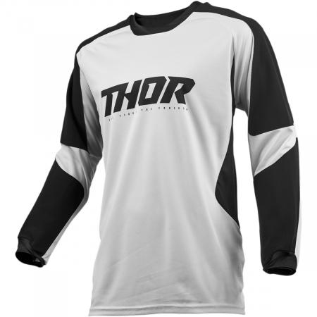 Tricou Off-Road  Thor Terrain Gear S9 Offroad Jersey Gri/Negru S