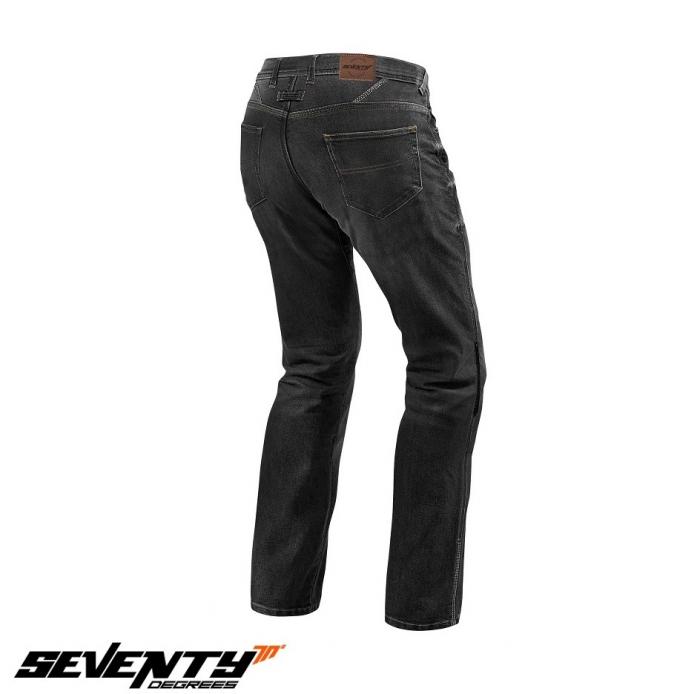 Blugi (jeans) moto femei Seventy model SD-PJ4 tip Regular fit culoare: negru (cu insertii Aramid Kevlar) [2]