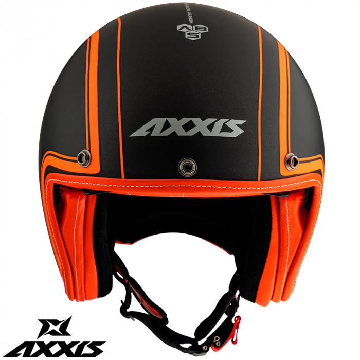 Casca Axxis model Hornet SV Royal A4 portocaliu fluor mat (ochelari soare integrati) [1]