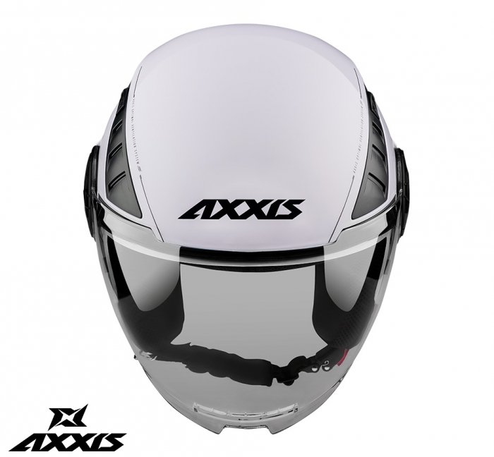 Casca Axxis model Metro A0 alb lucios (open face) [1]