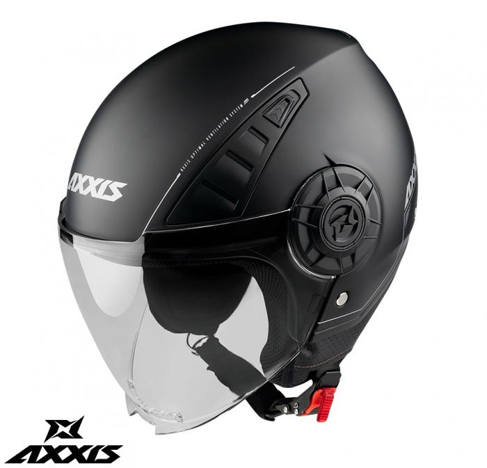Casca Axxis model Metro A1 negru lucios (open face) [0]
