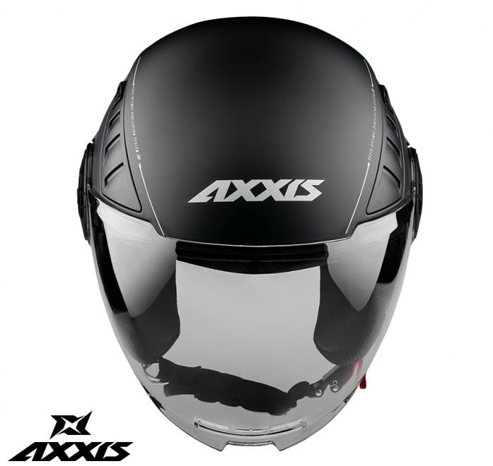 Casca Axxis model Metro A1 negru lucios (open face) [1]