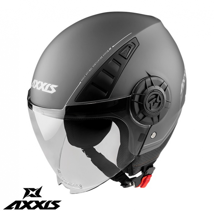 Casca Axxis model Metro A2 titanium mat (open face) [0]