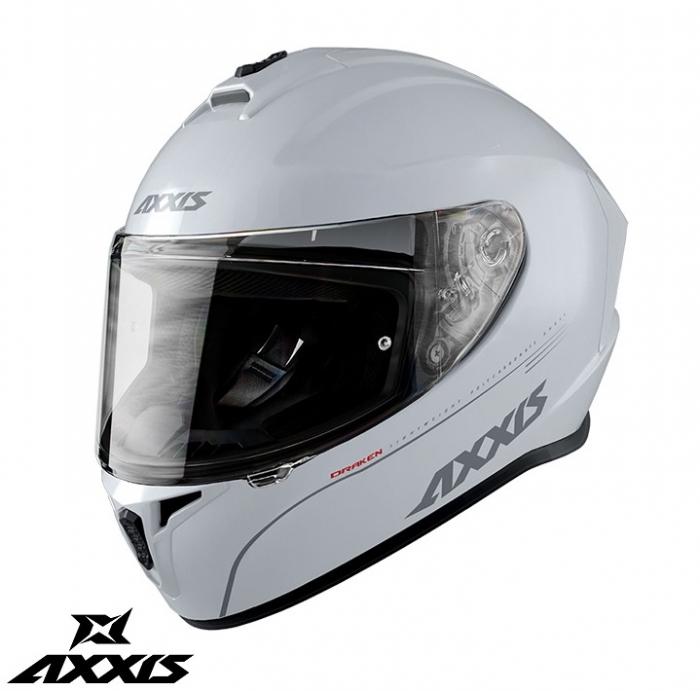 Casca integrala Axxis model Draken A10 alb lucios [0]