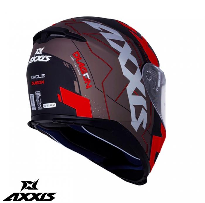 Casca integrala Axxis model Eagle SV Diagon D1 rosu lucios (ochelari soare integrati) [1]