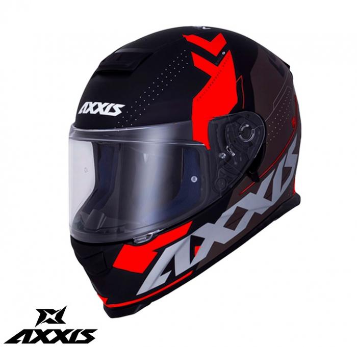 Casca integrala Axxis model Eagle SV Diagon D1 rosu lucios (ochelari soare integrati) [0]