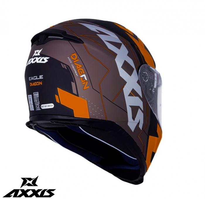 Casca integrala Axxis model Eagle SV Diagon D4 portocaliu mat (ochelari soare integrati) [1]