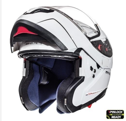 Casca integrala modulabila motociclete MT Atom SV alb lucios Pinlock ready [3]