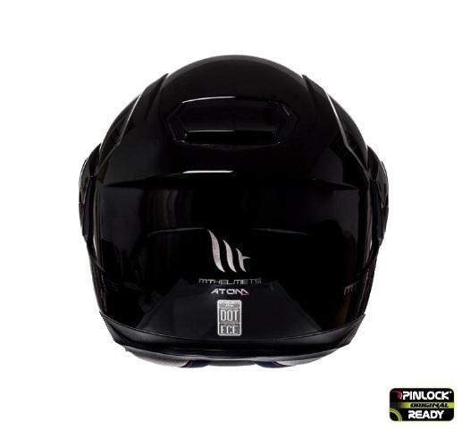 Casca integrala modulabila motociclete MT Atom SV negru lucios Pinlock ready [2]