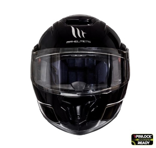 Casca integrala modulabila motociclete MT Atom SV negru lucios Pinlock ready [1]