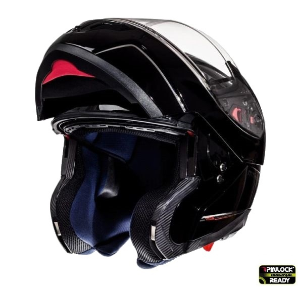 Casca integrala modulabila motociclete MT Atom SV negru lucios Pinlock ready [3]