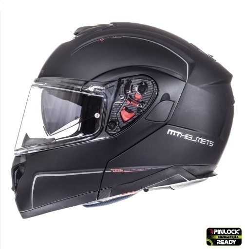 Casca integrala modulabila motociclete MT Atom SV negru mat Pinlock ready [0]