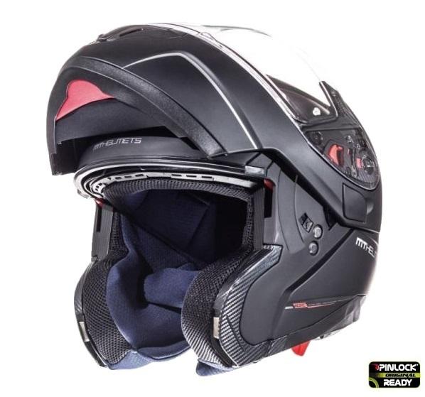 Casca integrala modulabila motociclete MT Atom SV negru mat Pinlock ready [3]
