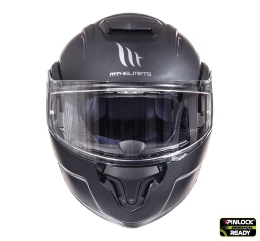 Casca integrala modulabila motociclete MT Atom SV negru mat Pinlock ready [1]