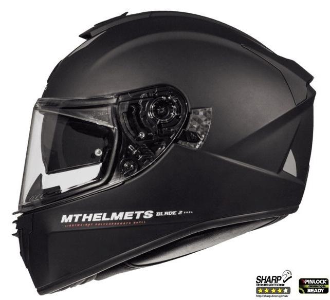 Casca integrala motociclete MT Blade 2 SV A1 negru mat (ochelari soare integrati) [0]