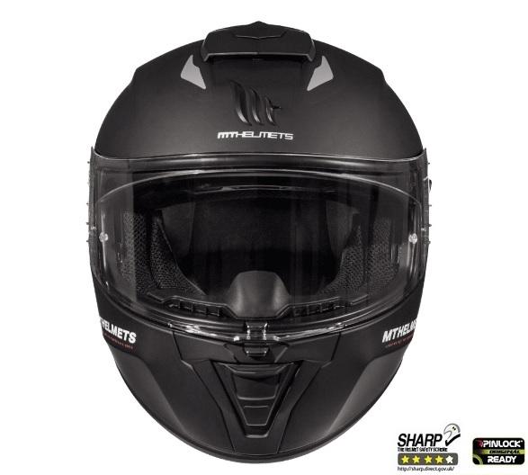 Casca integrala motociclete MT Blade 2 SV A1 negru mat (ochelari soare integrati) [2]