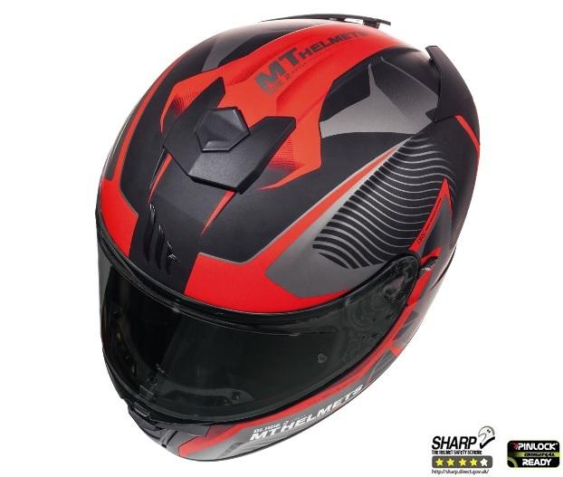 Casca integrala motociclete MT Blade 2 SV Blaster B2 rosu mat (ochelari soare integrati) [5]
