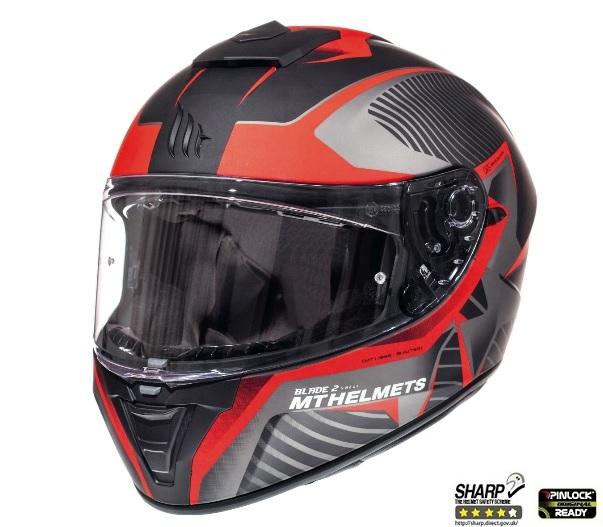 Casca integrala motociclete MT Blade 2 SV Blaster B2 rosu mat (ochelari soare integrati) [1]
