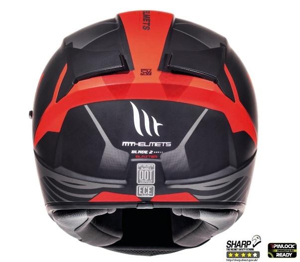 Casca integrala motociclete MT Blade 2 SV Blaster B2 rosu mat (ochelari soare integrati) [3]