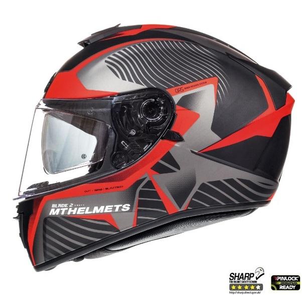 Casca integrala motociclete MT Blade 2 SV Blaster B2 rosu mat (ochelari soare integrati) [0]