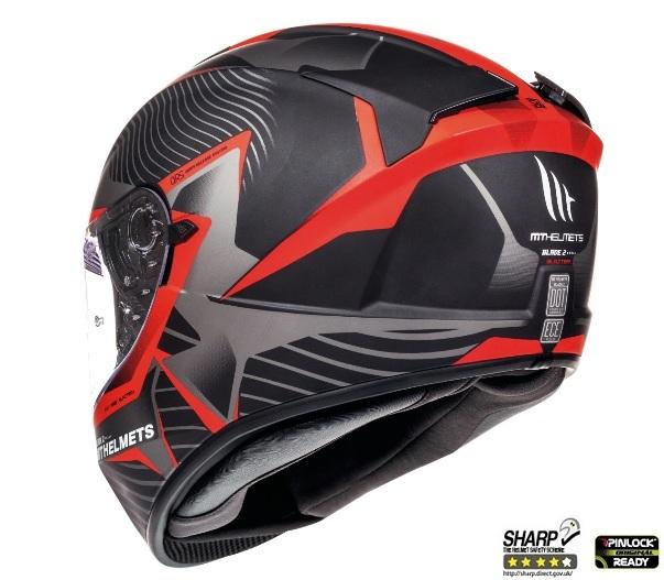 Casca integrala motociclete MT Blade 2 SV Blaster B2 rosu mat (ochelari soare integrati) [4]