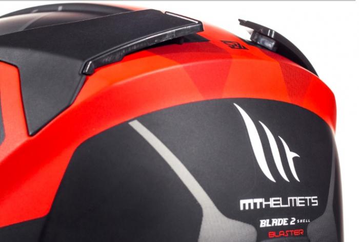 Casca integrala motociclete MT Blade 2 SV Blaster B2 rosu mat (ochelari soare integrati) [9]